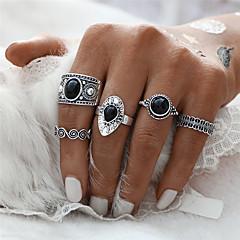 Dames Ring Midiringen Uniek ontwerp Meetkundig Cirkel Bloemen  Modieus Vintage Punk-stijl Euramerican JuweeltjeOvalen vorm Ronde vorm