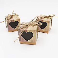 50 Peça/Conjunto Suportes para Lembrancinhas-Cúbico Papel de Cartão Caixas de Ofertas não-personalizado