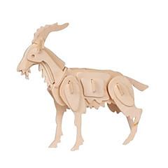 jigsaw zagonetke 3D puzzle Građevni blokovi DIY igračke Sheep Drvo Igračka model i građenje