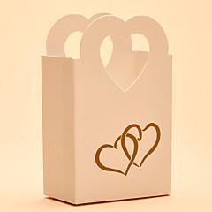 25 יחידה / סט מחזיק לטובת-בצורת לב נייר כרטיסים קופסאות קישוט צנצנות ממתקים ובקבוקים קופסאות מתנה ללא התאמה אישית
