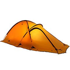 2 사람 텐트 더블 베이스 캠핑 텐트 원 룸 백패킹 텐트 수분 방지 방수 비 방지 찢김 방지 용 캠핑 실내 여행 야외 2000-3000 mm CM