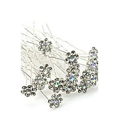 20 Piece/Box Flower Shape Alloy Headpiece-Wedding Special Occasion Outdoor Hair Pin Hair Stick Hair Tool