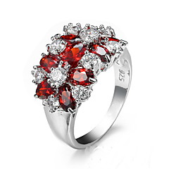 Women's Ring Cubic Zirconia Unique Design Fashion Euramerican Zircon Alloy Jewelry Jewelry For Party Anniversary Birthday Party/Evening