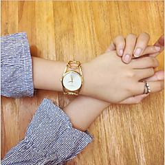לנשים שעוני אופנה שעון יד שעון צמיד ייחודי Creative צפה Chinese קווארץ מתכת אל חלד להקה וינטאג' צמיד מגניב יום יומי יצירתי אלגנטי כסף זהב
