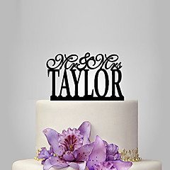 Personalized Acrylic Classical Mr & Mrs Wedding Cake Topper