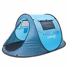 1 henkilö Teltta Kaksinkertainen teltta Yksi huone Upota teltta Kosteuden kestävä Vedenkestävä Sateen kestävä varten Retkeily Ulkoilu