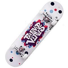 Esdoorn Dames Heren compleet Skateboards Standard Skateboards Patroon 31 Inch Lichtgewicht 608ZZ-Wit Zwart Rood