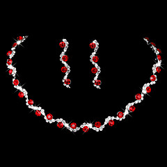 Women's Drop Earrings Choker Necklaces Bridal Jewelry Sets AAA Cubic Zirconia Fashion Simple Elegan Jewelry For Wedding Party Engagement
