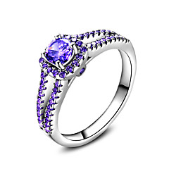 Women's Ring Vintage Elegant Sapphire Silver Ring Jewelry For Wedding Anniversary Party/Evening Business Engagement Ceremony