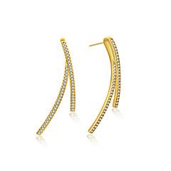 Női Férfi Beszúrós fülbevalók Bojtok Divat minimalista stílusú Klasszikus elegáns Ezüstözött Ékszerek Ékszerek KompatibilitásEsküvő Parti