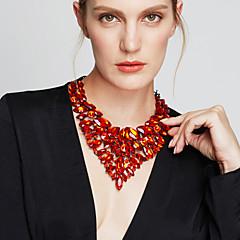 Žene Izjava Ogrlice Bib ogrlice Jewelry Dragi kamen Kristal Moda Europska luksuzni nakit Nakit sa stilom Elegantno Jewelry ZaParty
