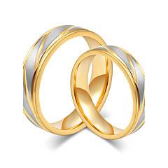 Voor Stel Ringen voor stelletjes Eenvoudige Stijl Elegant Titanium Staal Ronde vorm Sieraden VoorBruiloft Feest/Avond Verloving Dagelijks