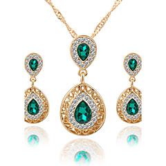 Dame Smykke Sett Halskjede / Øredobber Brude smykker sett Krystall Rhinstein Hengende Mote Euro-Amerikansk Luksus Smykker BrudeKrystall
