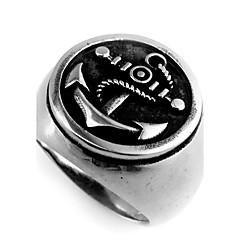 Heren Midiringen Basisontwerp Vintage Roestvast staal Anker Sieraden Voor Dagelijks Causaal