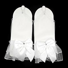 K zápěstí Bez prstů Síťované Rukavice Síť průhledný Síťování Pro nevěstu Podzim Léto Mašle