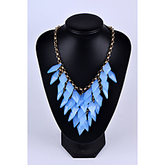 Women's Statement Necklaces Taper Shape Gem Alloy Tassel Jewelry For Wedding Party Special Occasion Anniversary Birthday