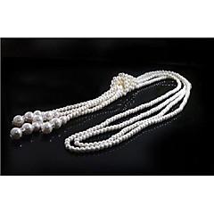 Vrouwenverklaring kettingen imitatie parel kwastje juwelen voor de bruiloft partij halloween verjaardag graduatie cadeau dagelijks