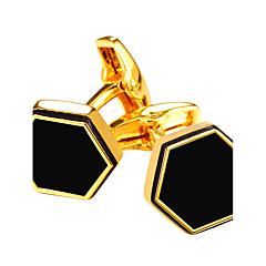 Manschettenknopf Tie Bar Krawattenklammer Modisch Vintage Manschettenknöpfe Herrn Damen Goldfarben