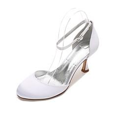 Dame bryllup sko Komfort D' Orsay og todelt Sateng Vår Sommer Bryllup Formell Fest/aften Uthult Lav hæl Liten hælLilla Rød Blå Lysebrun