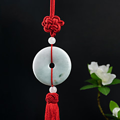 Diy automotive hangers houten handgemaakte chinese knoop fashion lucky rode kwast auto hanger& Ornamenten jade