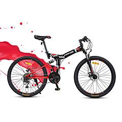 マウンテンバイク 折りたたみ自転車 サイクリング 24スピード 24 inch YINXING ディスクブレーキ サスペンションフォーク スチールフレーム カーボン 折りたたみ式 普通 アンチスリップ アルミニウム