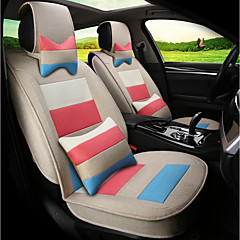 Flachs Mosaik Regenbogen Streifen Auto Sitz Kissen Sitzbezug Sitz vier Jahreszeiten General umgeben von einem fünf Sitz-Beige