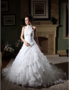 Lanting Bride® Ball Gown Petite / Plus Sizes Wedding Dress - Classic & Timeless / Elegant & Luxurious / Glamorous & Dramatic Vintage