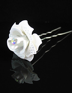 Women's / Flower Girl's Alloy / Paper Headpiece-Wedding / Special Occasion / Casual / Outdoor Hair Pin Clear Round