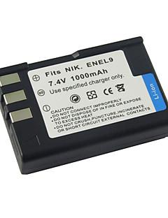 la sostituzione della batteria della fotocamera digitale EN-EL9 per Nikon D60 d40x/nikon (09.370.133)