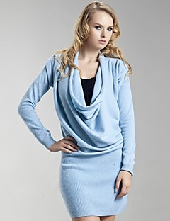 TS Draped Cowl Neck Cashmere Sweater Dress (5 colors)