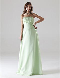 정리! strapless 층 길이 쉬폰 들러리 / 웨딩 파티 드레스