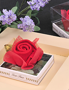 Red Rose Towel Wedding Favor