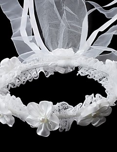 Flower Girl's Satin/Imitation Pearl Headpiece - Wedding/Special Occasion Headbands