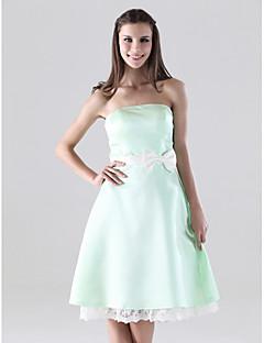 YAM - Vestido de Dama de honor de Satén y Encaje