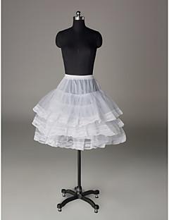 Slips A-Line Slip Ball Gown Slip Short-Length 3 Nylon Tulle Netting White