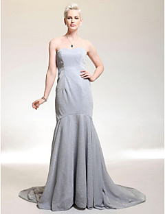 sequined kochanie syrena sąd pociąg suknia inspirowana Carrie Underwood na Złoty Glob