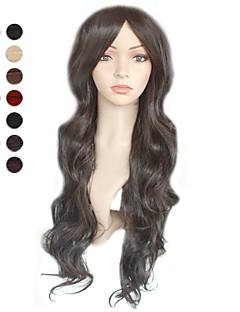 sin tapa largos negros ondulados colores peluca de pelo disponibles múltiples