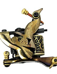 2 Handmade Damascus Tattoo Guns Kit with LCD Power Supply
