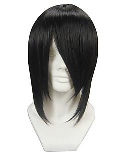 Cosplay Wigs Black Butler Sebastian Michaelis Black Short Anime Cosplay Wigs 35 CM Heat Resistant Fiber Male