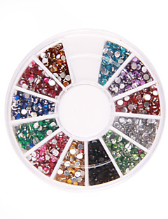 1200 nail art rhinestone glitter tips mix perle hjul
