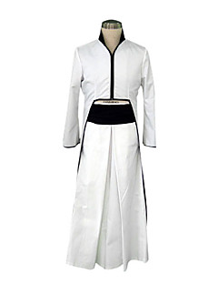 Inspired by Cosplay Cosplay Anime Cosplay Costumes Cosplay Suits / Kimono Patchwork White Long Sleeve Coat / Hakama pants / Belt