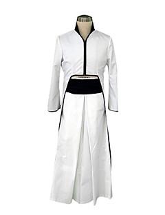 קיבל השראה מ קוספליי קוספליי אנימה תחפושות קוספליי חליפות קוספליי / קימונו טלאים לבן שרוולים ארוכים מעיל / Hakama pants / חגורה