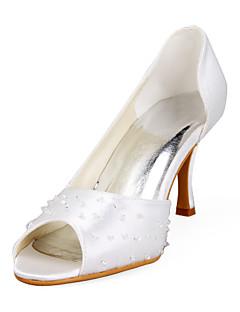 BOSTON - Sapato Dedo Aberto para Casamento Salto Stiletto em Cetim