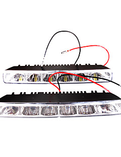 Car Daytime Running Light/Fog Light (2 PCS, 6 OVAL LED)