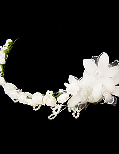 素敵なサテン/人造真珠♥ウェディング♥フラワーティアラ