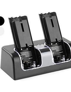 Dual USB laadstation met 4 oplaadbare batterijen voor de wii (2800mAh, verschillende kleuren)