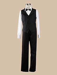 Inspirovaný DuRaRaRa Shizuo Heiwajima Anime Cosplay kostýmy Cosplay šaty Jednobarevné Czarny Dlouhé rukávyVesta / Tričko / Kalhoty /