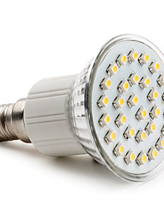 2W E14 / GU10 / E26/E27 Spot LED PAR38 30 SMD 3528 90 lm Blanc Chaud AC 100-240 V