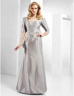 TS Couture Formal Evening Dress - Open Back Sheath / Column Scoop Floor-length Taffeta with Bow(s) Ruffles Sash / Ribbon