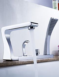 Sprinkle® badkranen  ,  Art Deco / Retro  with  Chroom Twee grepen Vijf Gaten  ,  Kenmerk  for Middenset / Uittrekbaar